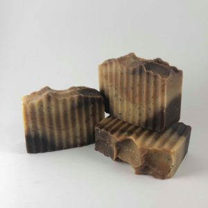 frothy coffee soap